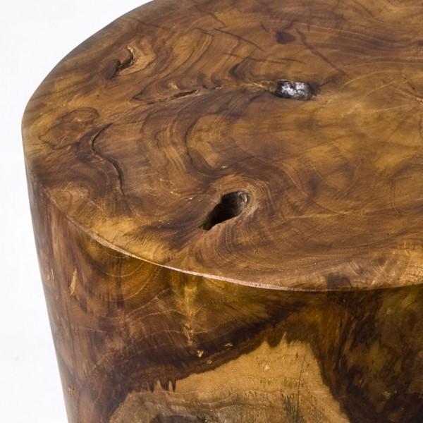 teak holz hocker wohnen beistelltisch stamm lasiert neu ebay. Black Bedroom Furniture Sets. Home Design Ideas