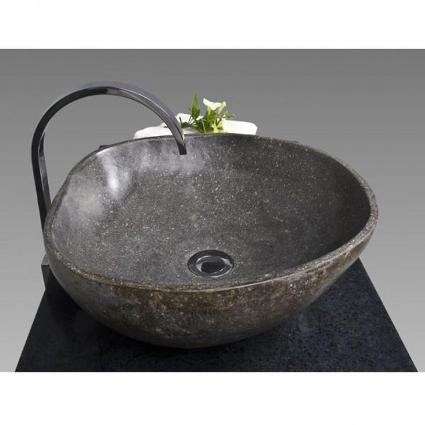 naturstein waschbecken 40 cm rundum poliert. Black Bedroom Furniture Sets. Home Design Ideas