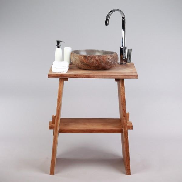 waschbecken stein flußstein findling bad aufsatz innen  ~ Waschbecken Stein