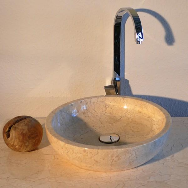 Waschbecken waschtisch bad design marmor creme neu ebay for Marmor couchtisch neu