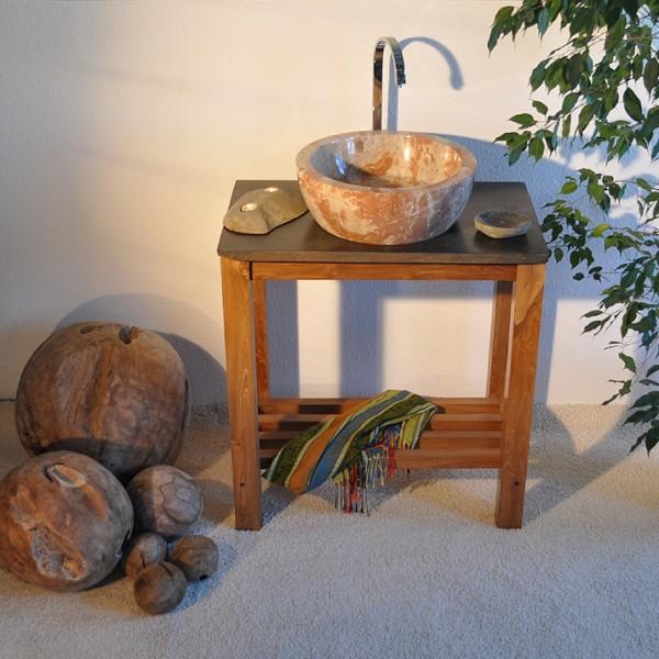waschbecken waschtisch bad design marmor rot wei neu ebay. Black Bedroom Furniture Sets. Home Design Ideas