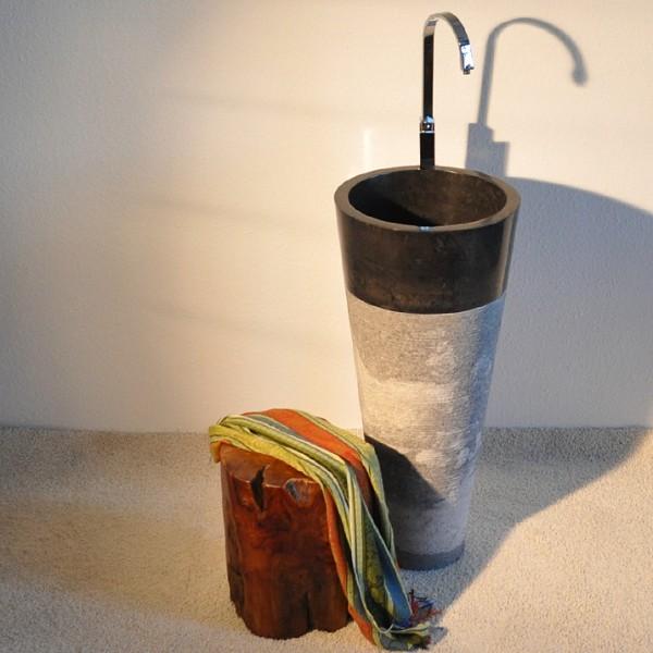 s ule bad waschtisch waschbecken marmor design schwarz ebay. Black Bedroom Furniture Sets. Home Design Ideas