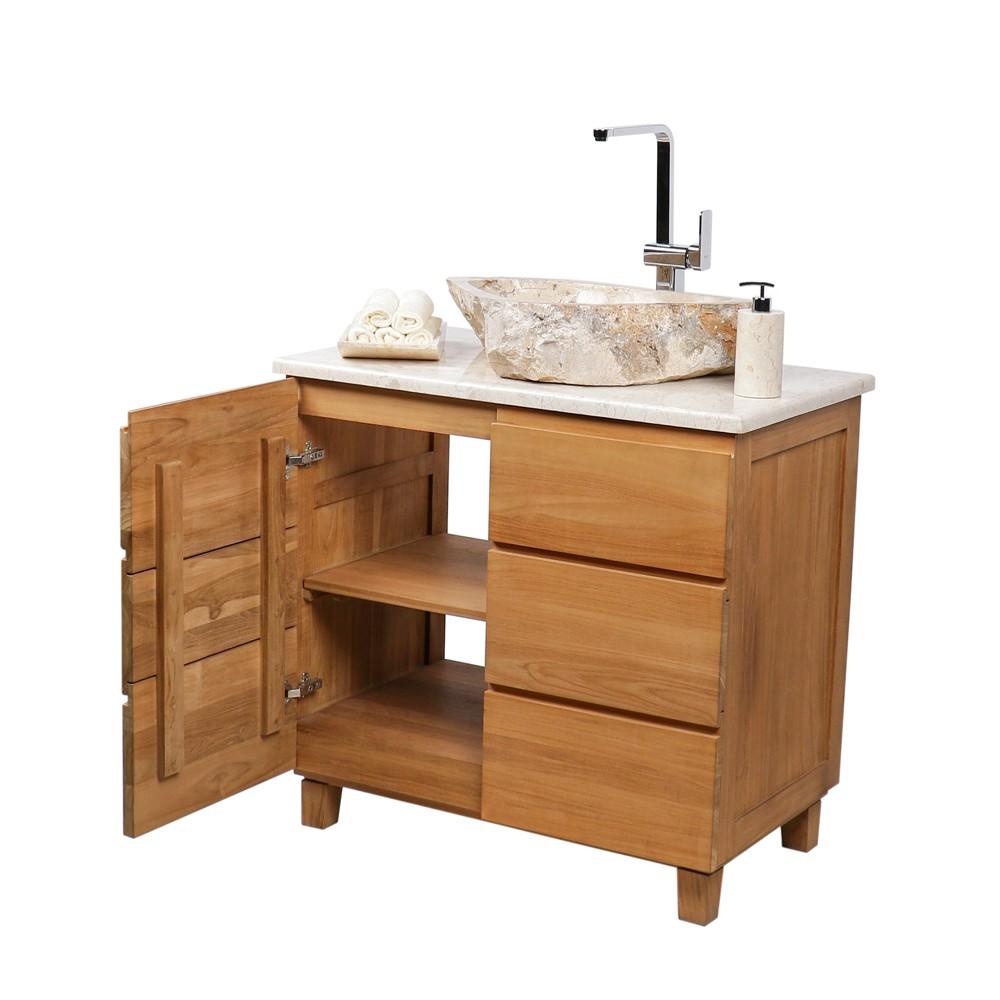 marmor waschbecken natur ca 60x45x16cm bei wohnfreuden kaufen. Black Bedroom Furniture Sets. Home Design Ideas