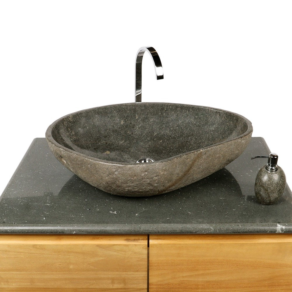 naturstein waschbecken 70 cm innen poliert bei wohnfreuden kaufen. Black Bedroom Furniture Sets. Home Design Ideas