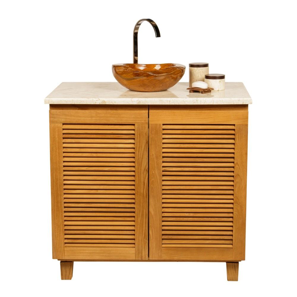 teakholz waschbecken 30 cm braun bei wohnfreuden kaufen. Black Bedroom Furniture Sets. Home Design Ideas