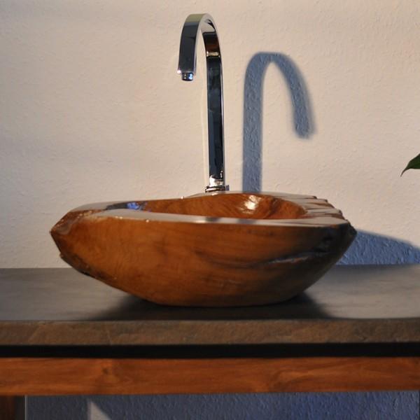 Große Tiefe Waschbecken : Gro?e auswahl teakholz waschbecken cm braun bei