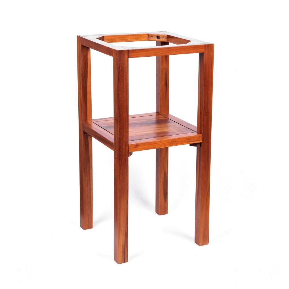 teak holz waschtisch untergestell smini 38x38x77cm bei. Black Bedroom Furniture Sets. Home Design Ideas