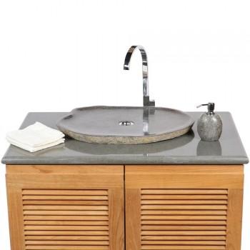 wohnfreuden naturstein waschbecken aus stein findling. Black Bedroom Furniture Sets. Home Design Ideas
