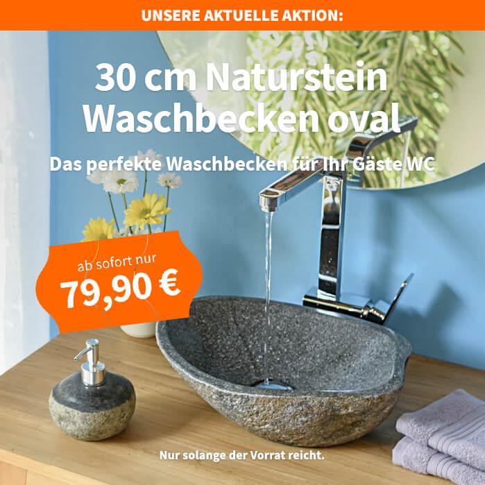 Naturstein Waschbecken Flusskiesel Findling Gaste Wc