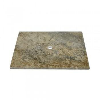 marmor waschtisch platte batik grau 80x52x3cm. Black Bedroom Furniture Sets. Home Design Ideas