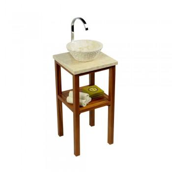 teak holz zen waschtisch natur 60x40x74cm. Black Bedroom Furniture Sets. Home Design Ideas
