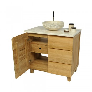 teak holz zen waschtisch natur 60x40x74cm bei. Black Bedroom Furniture Sets. Home Design Ideas