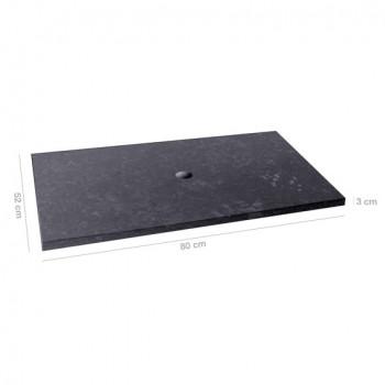 marmor waschtisch platte schwarz 80x52x3cm. Black Bedroom Furniture Sets. Home Design Ideas