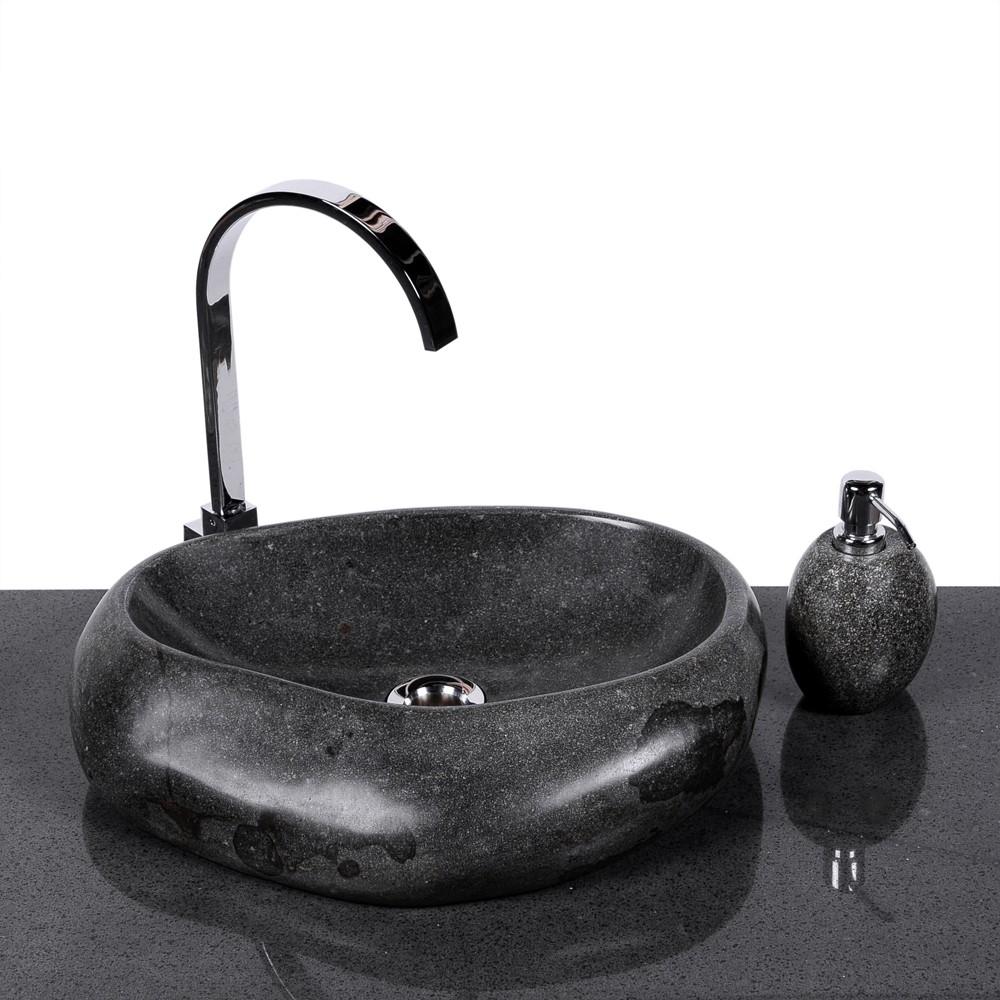 waschbecken wave 40 cm rundum poliert. Black Bedroom Furniture Sets. Home Design Ideas