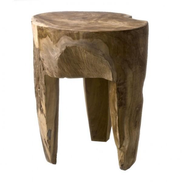 teakholz hocker rund geschliffen bei wohnfreuden kaufen. Black Bedroom Furniture Sets. Home Design Ideas