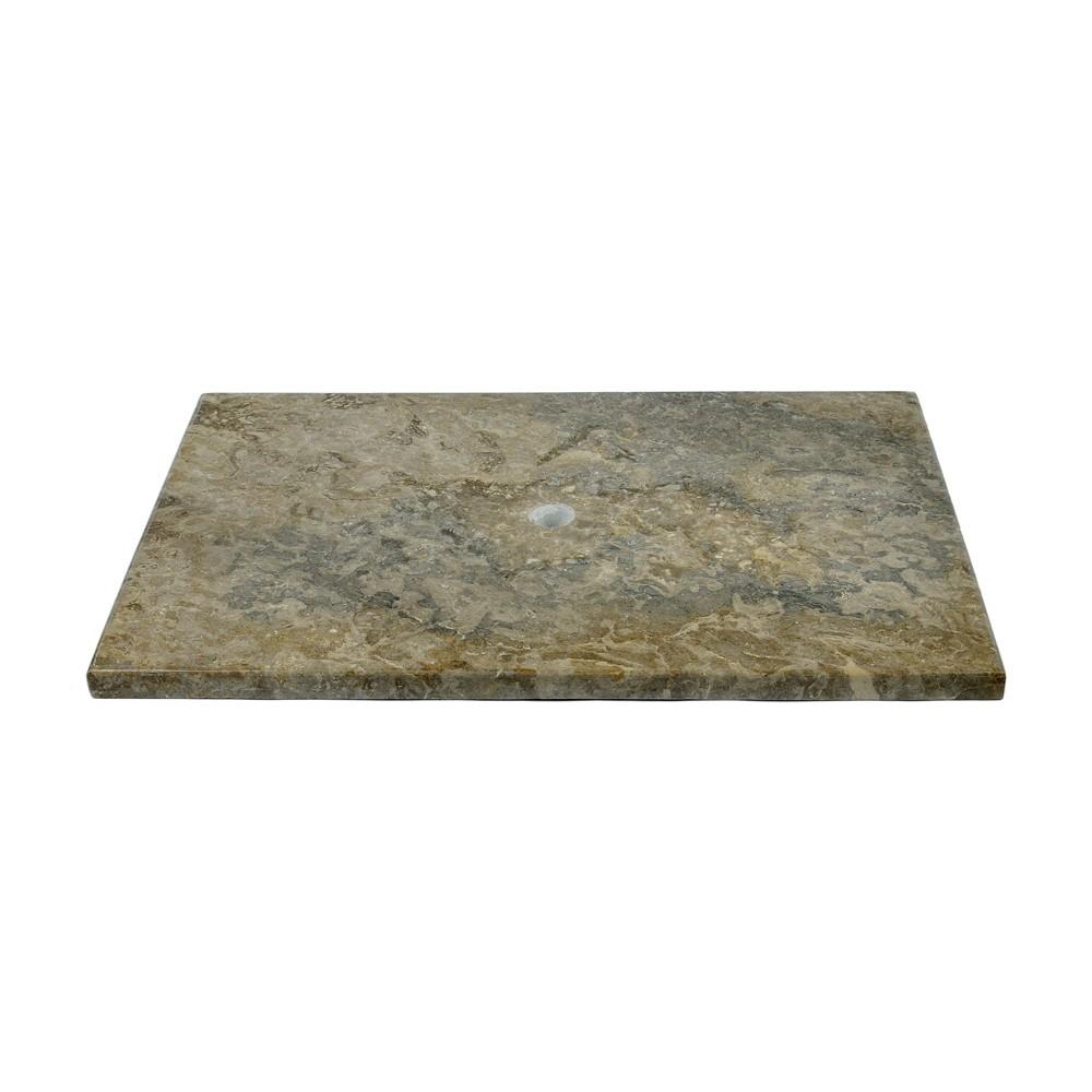 marmor waschtisch platte batik grau 80x52x3cm bei wohnfreuden kaufen. Black Bedroom Furniture Sets. Home Design Ideas