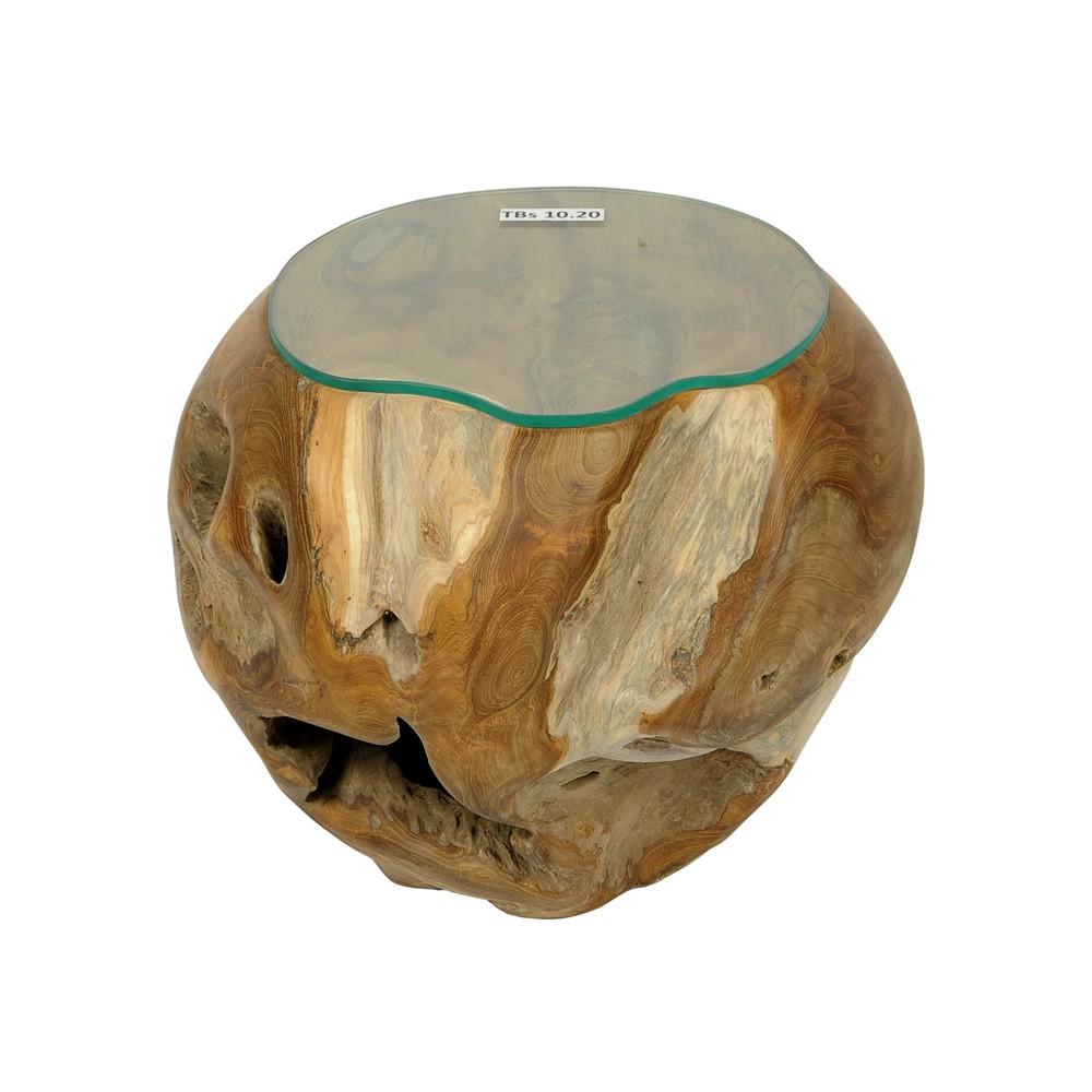 Teakholz Wurzel Tisch ~ Teakholz Couchtisch Beistelltisch Glasplatte Kaffeetisch Wurzelholz Wohnzimme