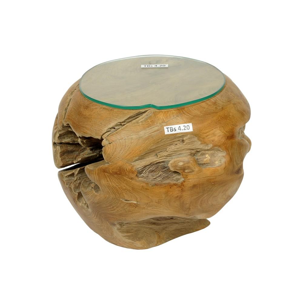 93 teakholz couchtisch beistelltisch glasplatte for Wohnzimmertisch 80 cm