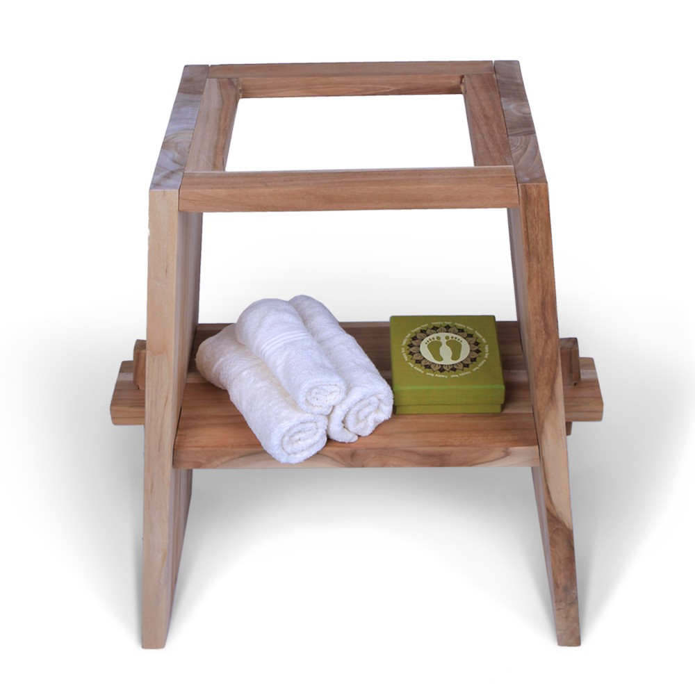 teak holz waschtisch zen inkl flu steinplatte anthrazit. Black Bedroom Furniture Sets. Home Design Ideas
