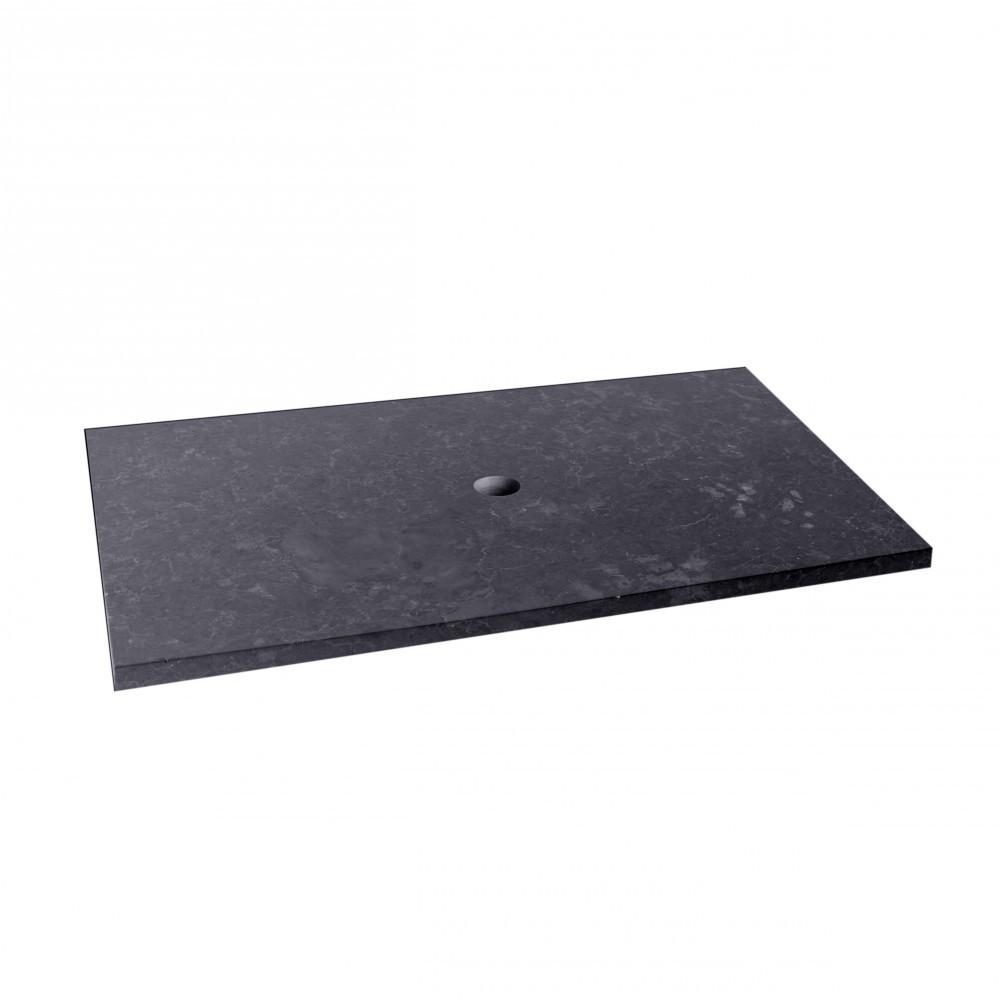 marmor waschtisch platte schwarz 80x52x3cm bei wohnfreuden kaufen. Black Bedroom Furniture Sets. Home Design Ideas
