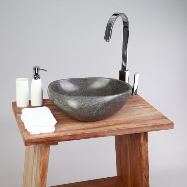 naturstein waschbecken 30 cm rundum poliert. Black Bedroom Furniture Sets. Home Design Ideas