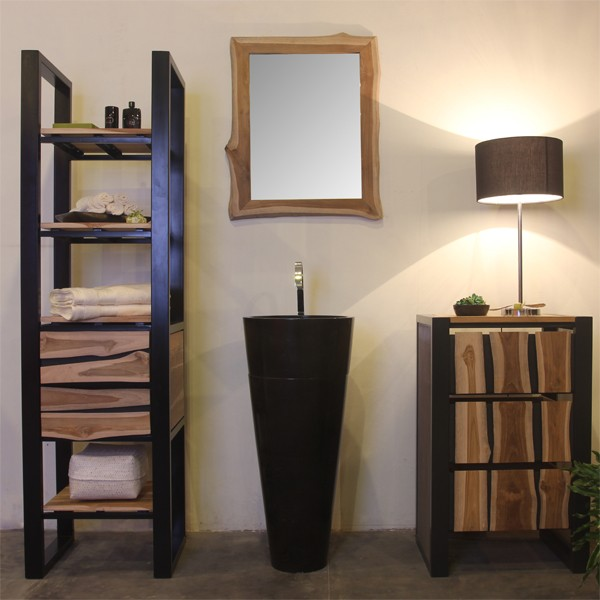 marmor waschtisch s ule poles 40 cm schwarz bei. Black Bedroom Furniture Sets. Home Design Ideas