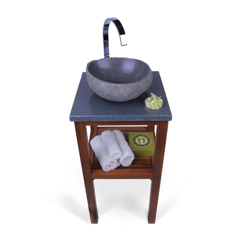 flu stein waschtisch platte smini grau 40x40x3cm bei wohnfreuden kaufen. Black Bedroom Furniture Sets. Home Design Ideas