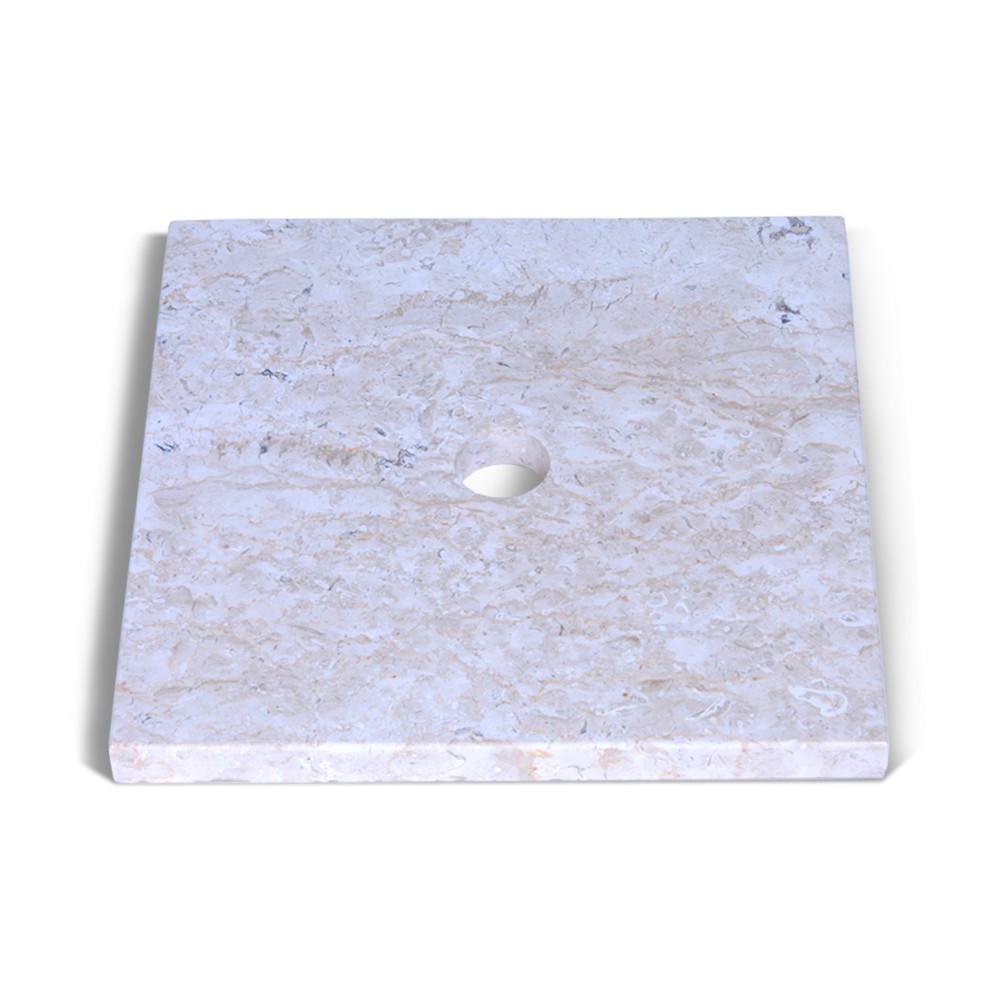 marmor waschtisch platte smini creme 40x40x3cm bei. Black Bedroom Furniture Sets. Home Design Ideas