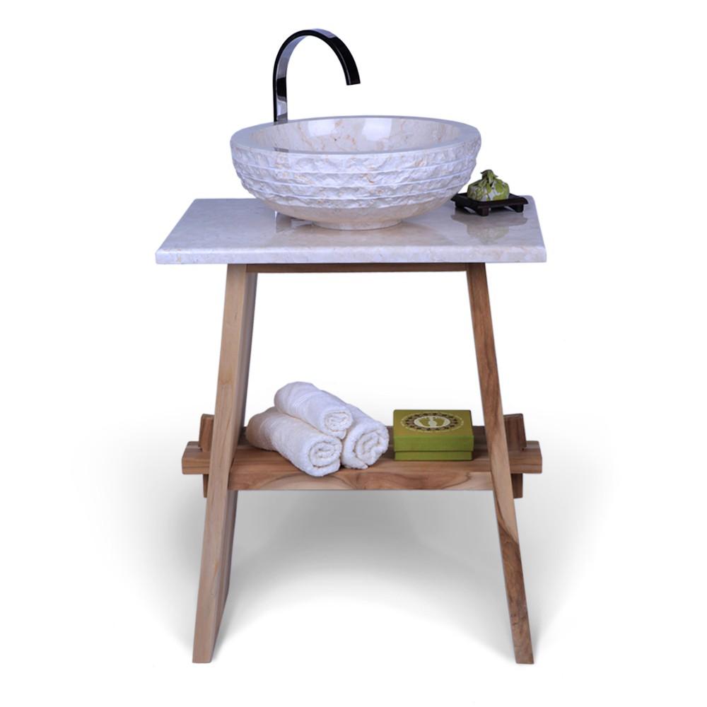 marmor waschtisch platte zen creme 60x40x3cm bei. Black Bedroom Furniture Sets. Home Design Ideas