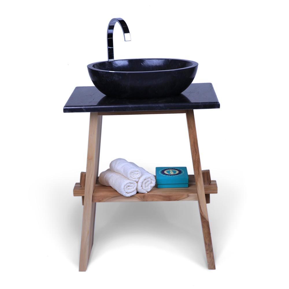 marmor waschtisch platte zen schwarz 60x40x3cm bei wohnfreuden kaufen. Black Bedroom Furniture Sets. Home Design Ideas