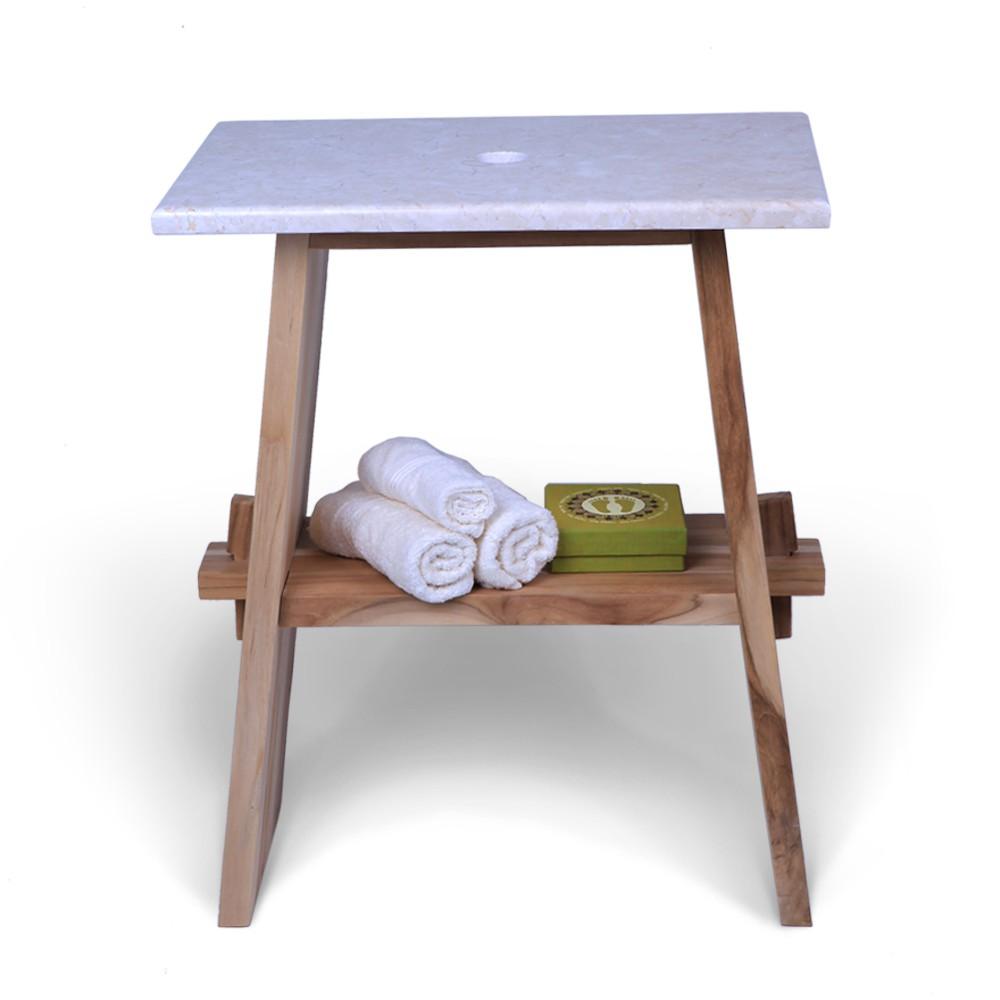 teak holz waschtisch untergestell zen 57x29 5x71cm bei. Black Bedroom Furniture Sets. Home Design Ideas