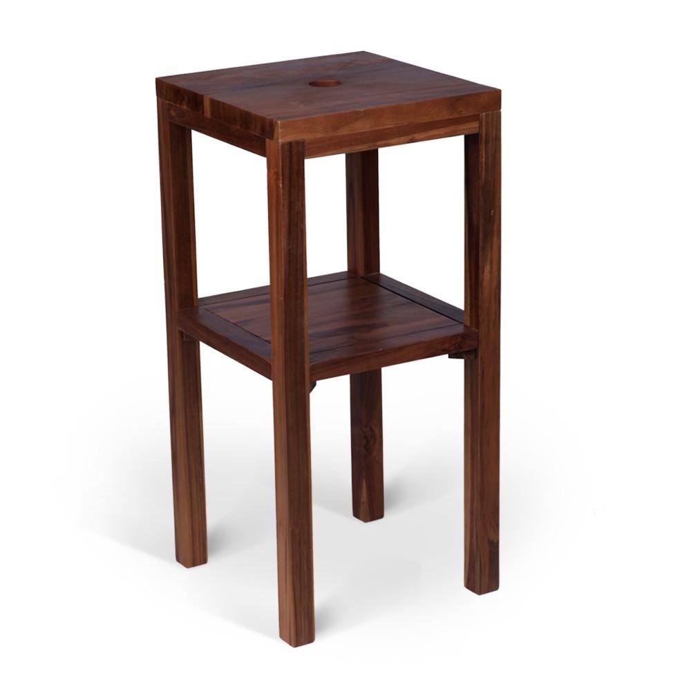 teak holz waschtisch smini 40x40x80cm lasiert bei wohnfreuden kaufen. Black Bedroom Furniture Sets. Home Design Ideas