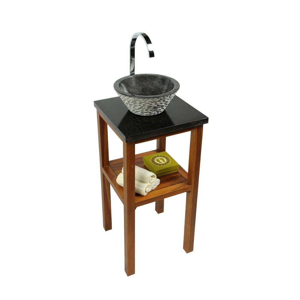 marmor waschtisch platte smini schwarz 40x40x3cm bei wohnfreuden kaufen. Black Bedroom Furniture Sets. Home Design Ideas