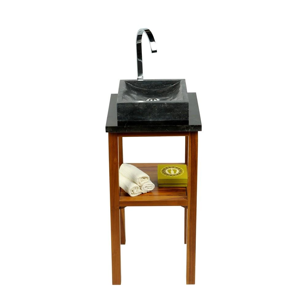 marmor waschtisch platte smini schwarz 40x40x3cm bei. Black Bedroom Furniture Sets. Home Design Ideas