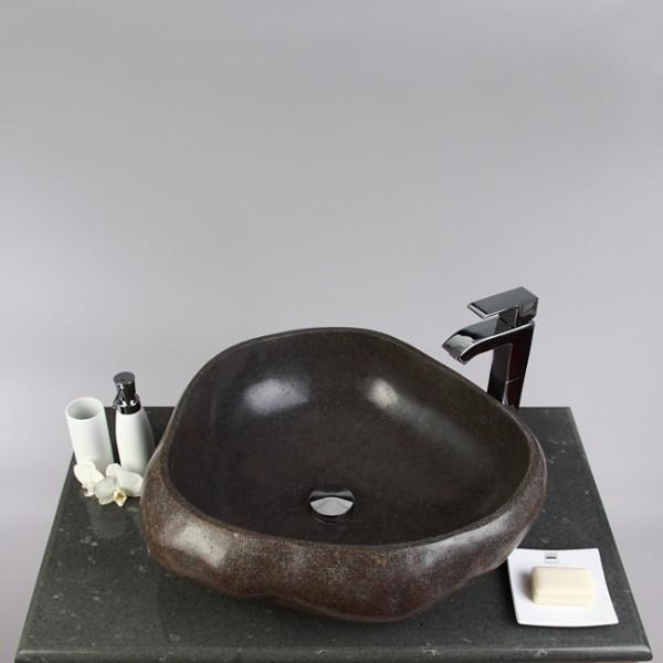naturstein waschbecken 50 cm rundum poliert bei wohnfreuden kaufen. Black Bedroom Furniture Sets. Home Design Ideas