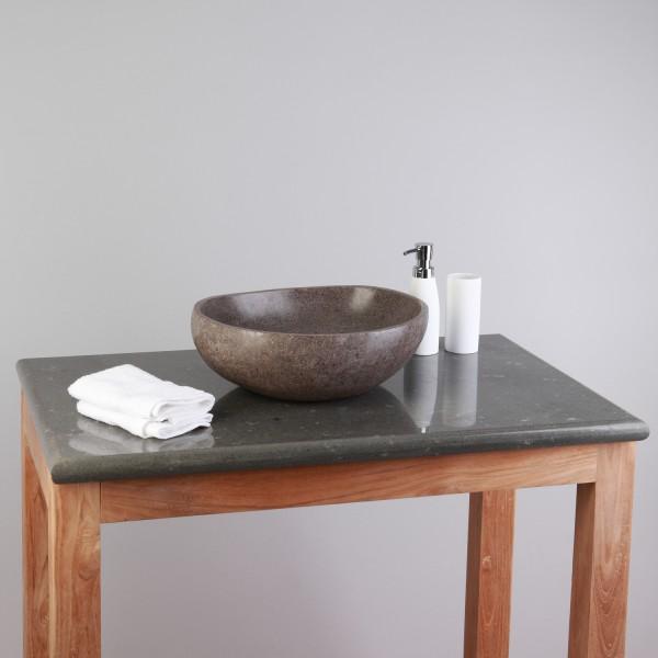 flu stein waschtisch platte grau 80x50x3cm bei wohnfreuden kaufen. Black Bedroom Furniture Sets. Home Design Ideas