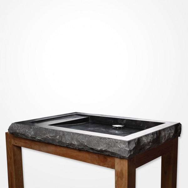 marmor waschbecken kotak 70 cm schwarz. Black Bedroom Furniture Sets. Home Design Ideas