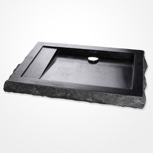 marmor waschbecken kotak 76 cm schwarz. Black Bedroom Furniture Sets. Home Design Ideas