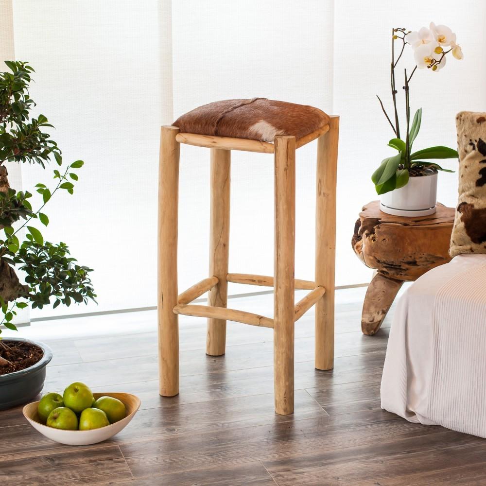 Barhocker Holz SitzhOhe 80 Cm ~ Ziegen Fell Barhocker 80 cm braun